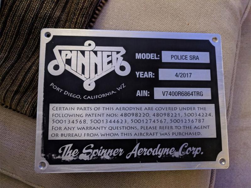 Spinner brand Aerodyne plate